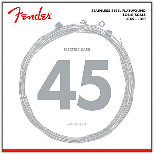 Fender 9050L Stainless Steel Flatwound Electric Bass Strings