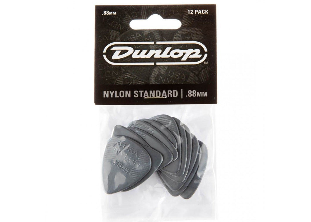Dunlop 44P88 .88mm Nylon Standard Guitar Picks, 12-Pack
