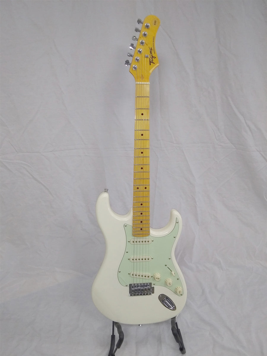 Tagima TG-530-OWH-LF/MG Strat Style Electric Guitar Vintage White