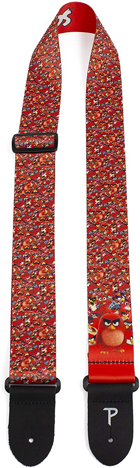 Perrri's Angry Birds Polyester Guitar Strap Red Collage LPCP-8183