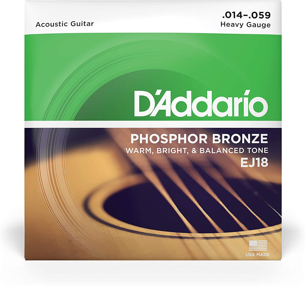 D'Addario EJ18 Phosphor Bronze Acoustic Guitar Strings, Heavy