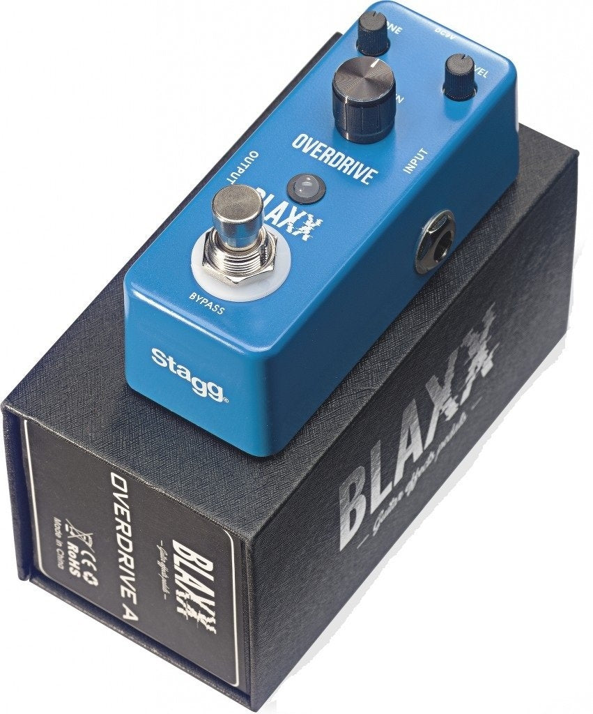 Stagg BLAXX BX-DRIVE A Two Mode Overdrive Mini Pedal BX-DRIVE A