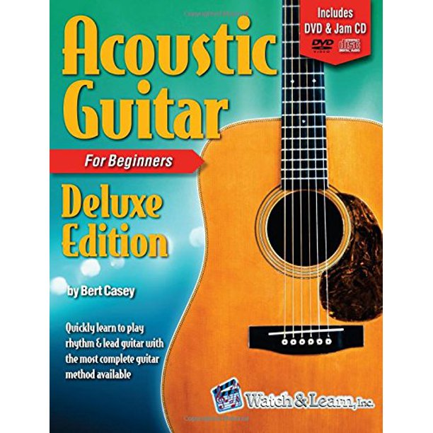 Watch & Learn Acoustic Guitar Book for Beginners with DVD & CD