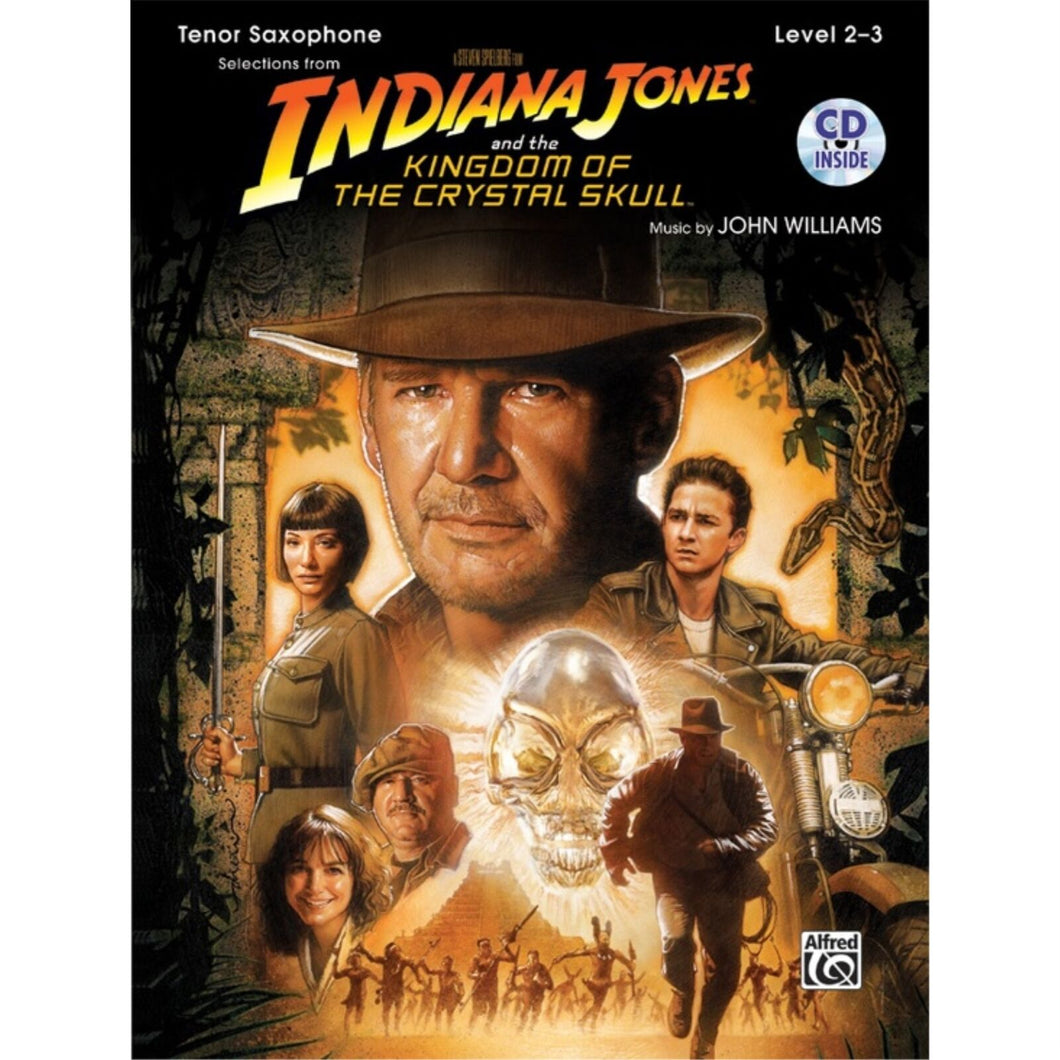Indiana Jones and the Kingdom of the Crystal Skull for Tenor Saxophone with CD