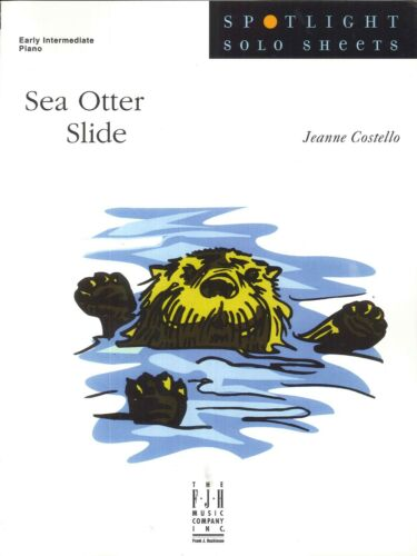Sea Otter Slide Jeanne Costello Solo Early Intermediate Piano Sheet Music
