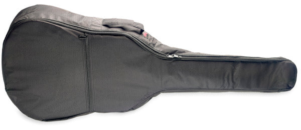 Stagg STB-5 W Economy Gig Bag for Folk/Western/Dreadnought Guitar with 10-Millimetre Foam Padding & Two Shoulder Straps - Black