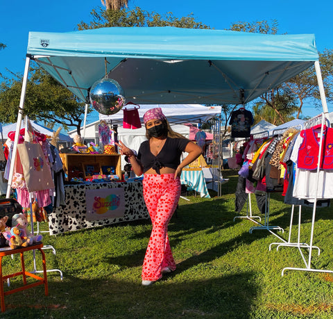 flea market disco pop up kids clothing owner ceo outfit valentines day children stylist