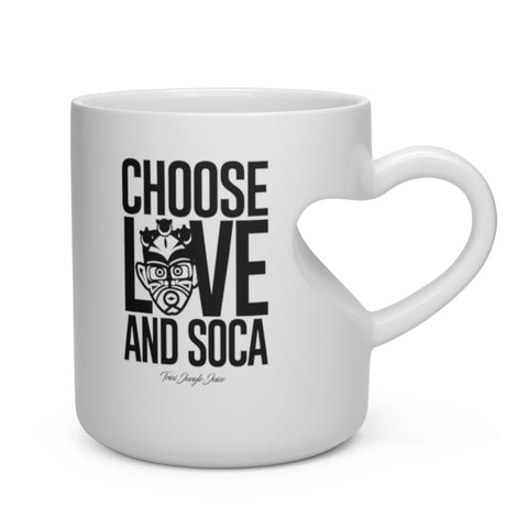 Choose LOVE and SOCA Heart Shape Mug