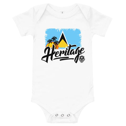 Heritage - St. Lucia Baby One Piece