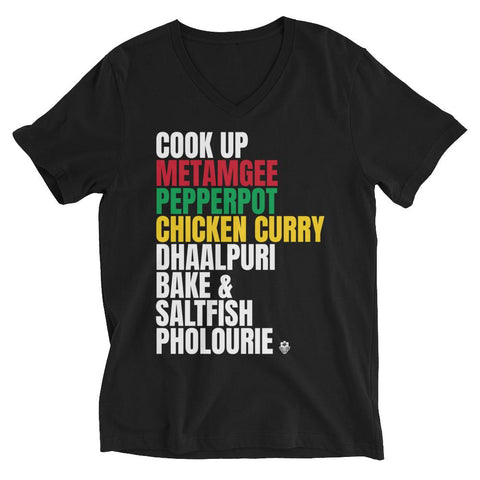 A Taste of the Caribbean - Guyanese Food Unisex V-Neck T-Shirt