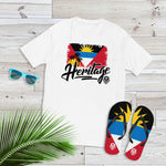 Heritage - Antigua and Barbuda Men's Premium Fitted T-Shirt (White) - Trini Jungle Juice Store