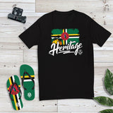 Heritage - Dominica Men's Premium Fitted T-Shirt (Black) - Trini Jungle Juice Store