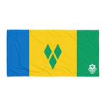 Beach Towel - St. Vincent and The Grenadines Flag - Trini Jungle Juice Store