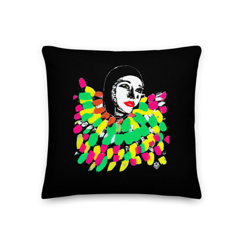 Traditional Mas Characters - Pierrot Grenade Throw Pillow
