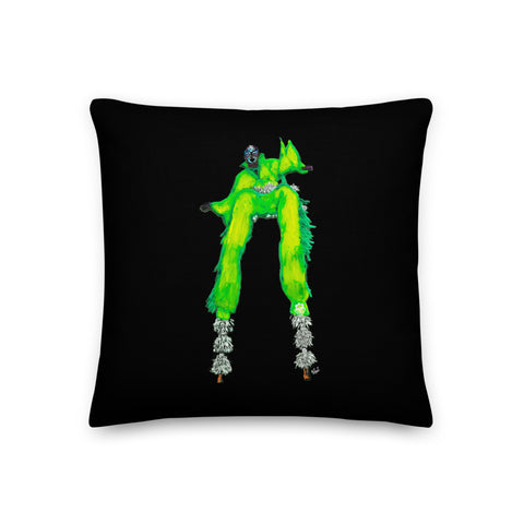 Traditional Mas Characters - Moko Jumbie Throw Pillow
