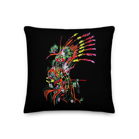 Traditional Mas Characters - Fancy Indian / Red Indian Throw Pillow