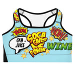 Soca Gives Me Power - Women's Sports Bra (Blue)