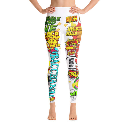 Soca Gives Me Power - Women's Yoga Leggings (White)