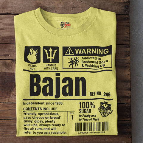 A Product of Barbados - Bajan Unisex T-Shirt (Black Print)