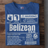A Product of Belize - Belizean Unisex T-Shirt (White Print)