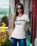 Caribbean Rich - Boss Lady V-Neck T-Shirt (White)