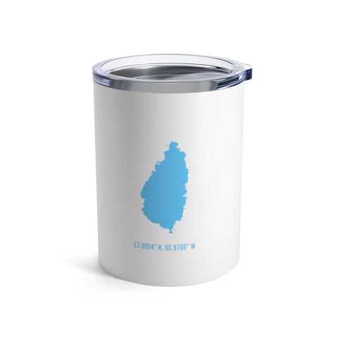 LOCAL - St. Lucia Tumbler (White 10 oz) - Trini Jungle Juice Store