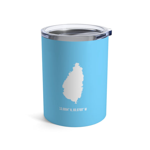 LOCAL - St. Lucia Tumbler (Blue 10 oz) - Trini Jungle Juice Store