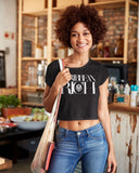 Caribbean Rich - Women's Crop Tee (Black) - Trini Jungle Juice Store