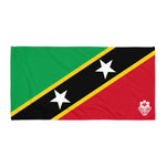 Beach Towel - St. Kitts and Nevis Flag - Trini Jungle Juice Store
