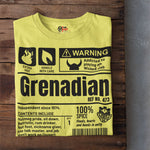 A Product of Grenada - Grenadian Unisex T-Shirt (Black Print)
