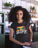 Heritage - Grenada Women's Fashion Fit T-Shirt (Black) - Trini Jungle Juice Store