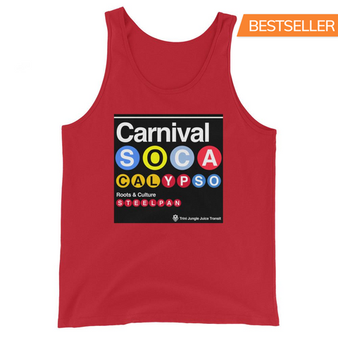 Trini Jungle Juice Transit - Carnival Soca Calypso and Steelpan Unisex Tank Top