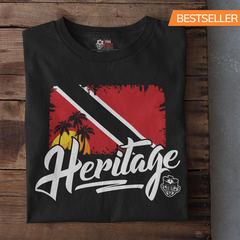 Heritage - Trinidad and Tobago Men's Premium Fitted T-Shirt (Black) - Trini Jungle Juice Store