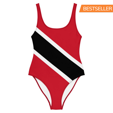 Island Flag - Trinidad and Tobago One-Piece Swimsuit - Trini Jungle Juice Store