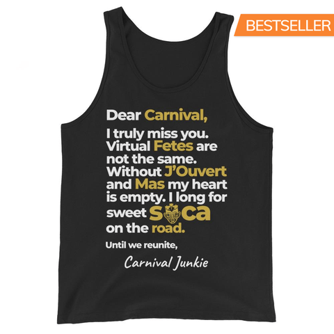 Letter to Carnival Unisex Tank Top - Add Personalize Signature!