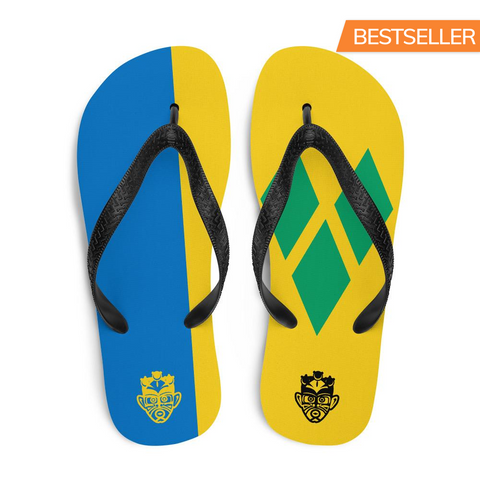 Island Flag - St. Vincent and The Grenadines Flip Flops - Trini Jungle Juice Store