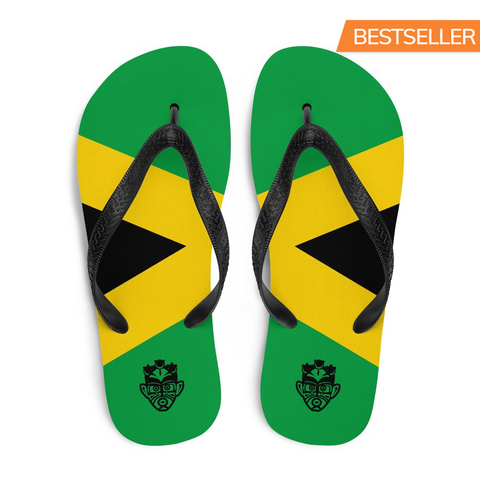 Island Flag - Jamaica Flip Flops - Trini Jungle Juice Store