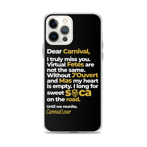 Letter to Carnival iPhone Case