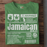 A Product of Jamaica - Jamaican Unisex T-Shirt (White Print)