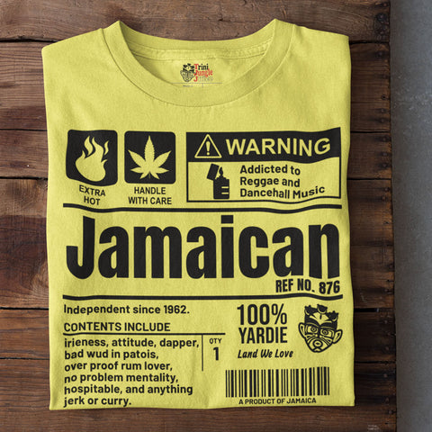 A Product of Jamaica - Jamaican Unisex T-Shirt (Black Print)
