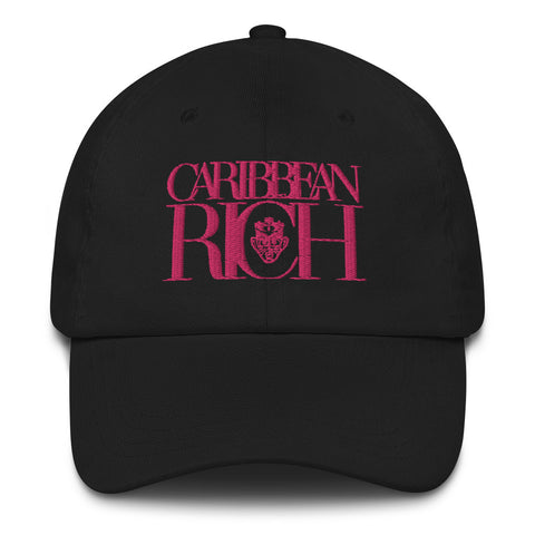 Caribbean Rich Dad Hat (Pink) - Trini Jungle Juice Store