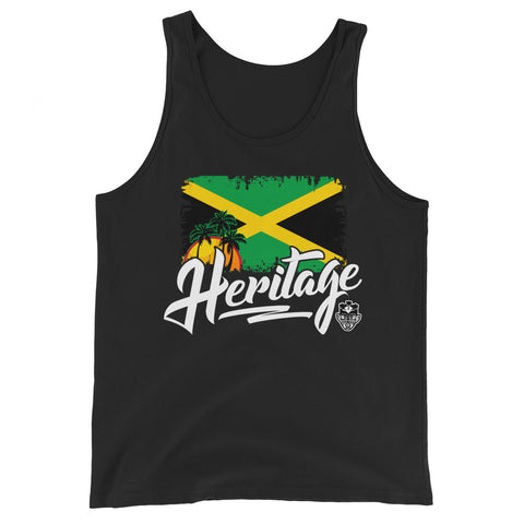 Heritage - Jamaica Unisex Tank Top (Black) - Trini Jungle Juice Store