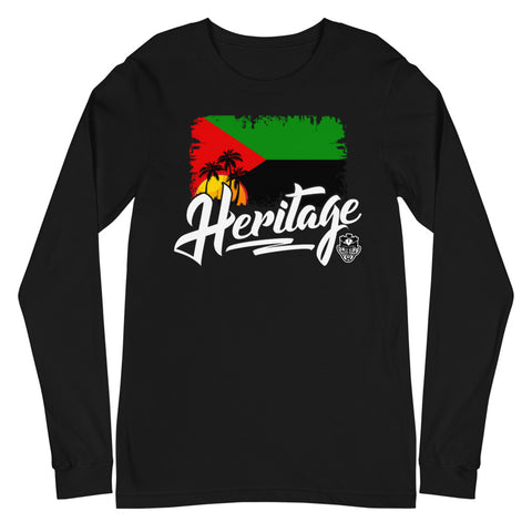 Heritage - Martinique Unisex Long Sleeve Tee (Black) - Trini Jungle Juice Store