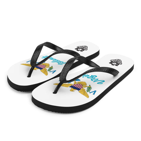 Island Flag - Virgin Islands Flip Flops - Trini Jungle Juice Store
