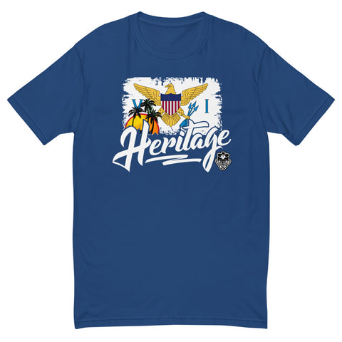 Heritage - Virgin Islands Men's Premium Fitted T-Shirt - Trini Jungle Juice Store