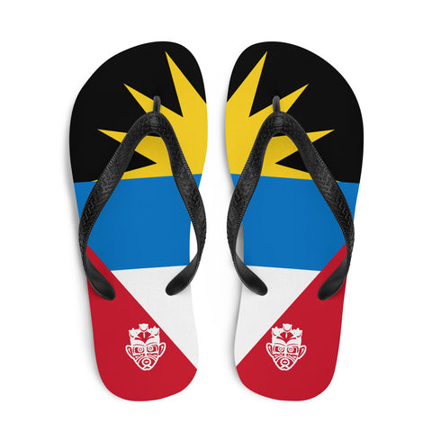 Island Flag - Antigua and Barbuda Flip Flops
