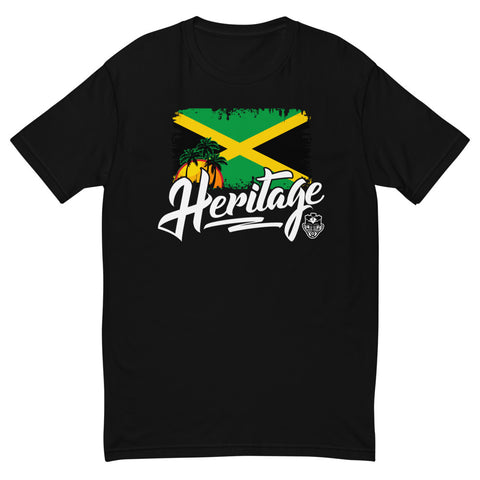 Heritage - Jamaica Men's Premium Fitted T-Shirt (Black) - Trini Jungle Juice Store