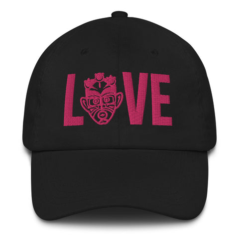 Choose LOVE and SOCA - LOVE Dad Hat (Pink 3D Puff) - Trini Jungle Juice Store