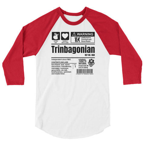 A Product of Trinidad and Tobago - Trinbagonian Unisex 3/4 Sleeve Raglan Shirt - Trini Jungle Juice Store