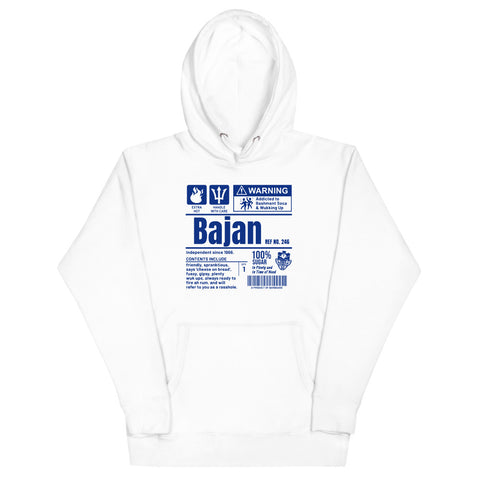 A Product of Barbados - Bajan Unisex Premium Hoodie (Blue Print) - Trini Jungle Juice Store